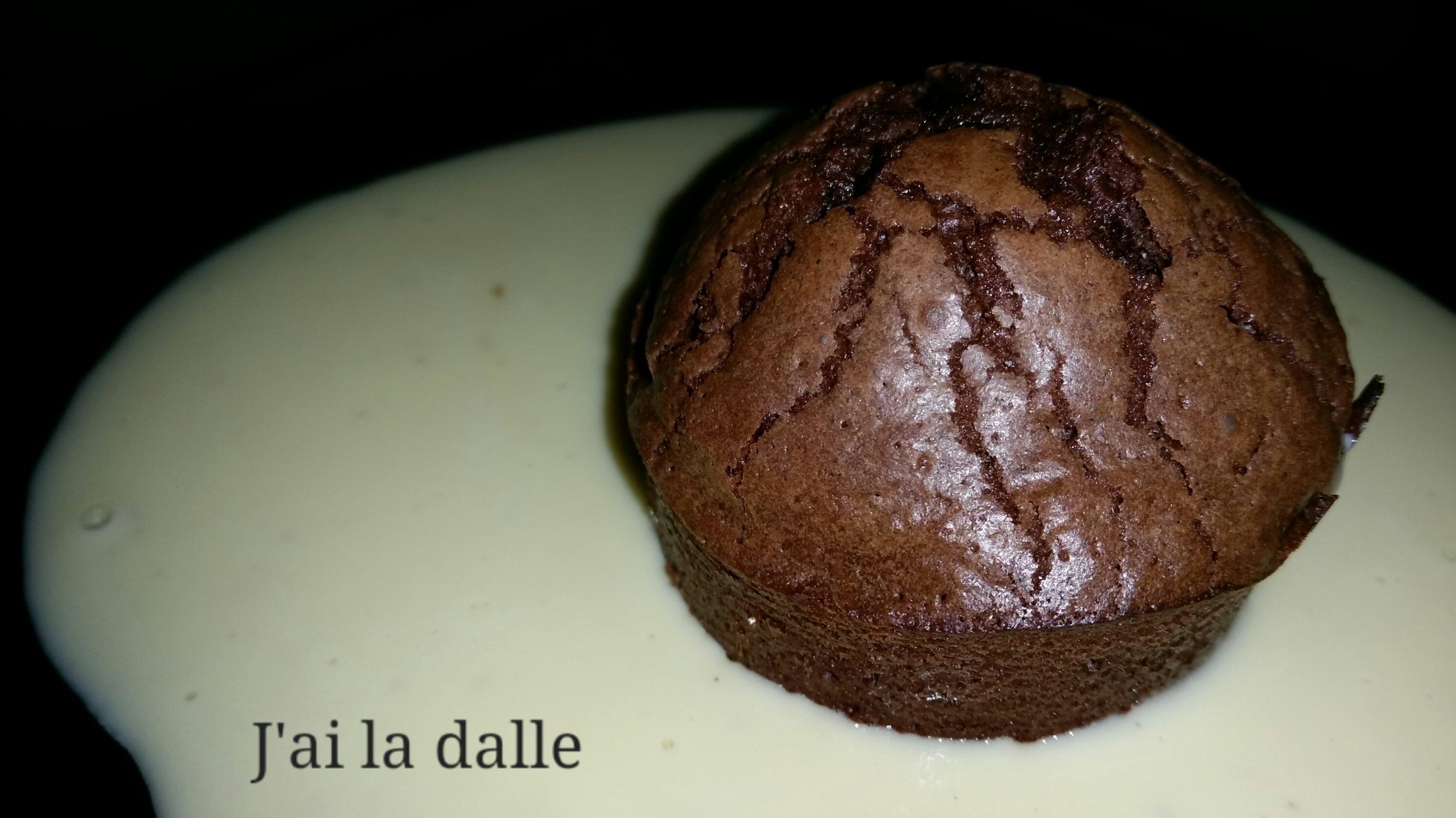 muffins au chocolat et cr me anglaise j 39 ai la dalle. Black Bedroom Furniture Sets. Home Design Ideas